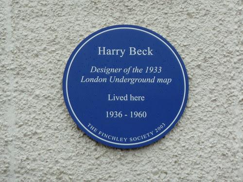 Harry Beck blue plaque sleepymyf
