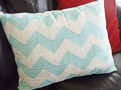 Sewn, not painted chevron design