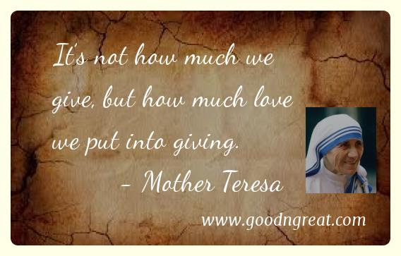 21 Top Mother Teresa Quotes Good And Great