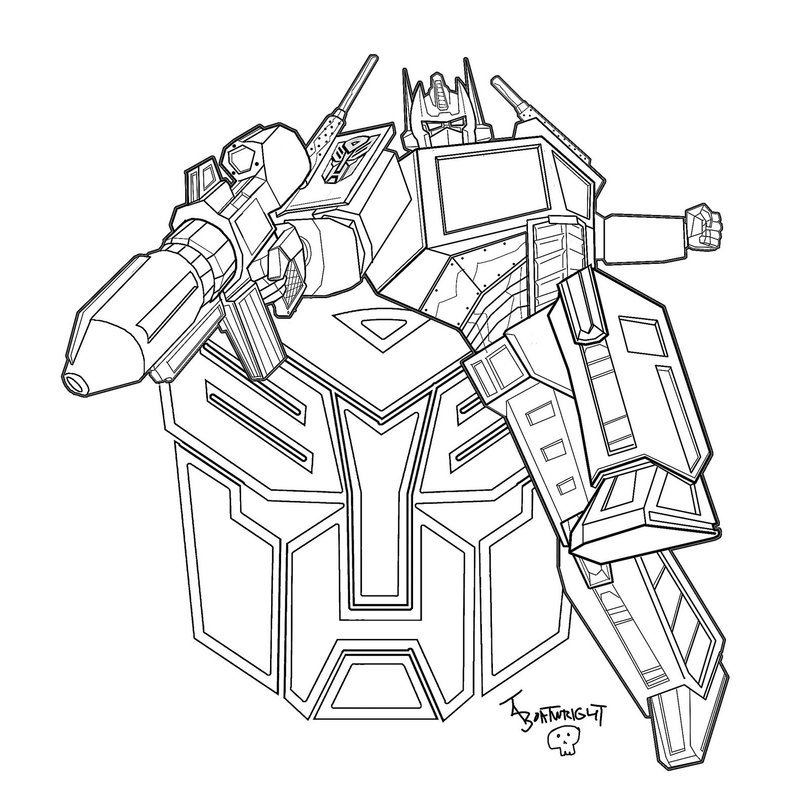 Coloring Pages For Boys Transformers At Getdrawingscom Free For
