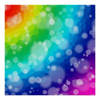 Bokeh Rainbow Pattern Print