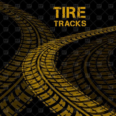 background  tire tracks vector image  backgrounds