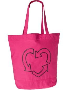 Women: Women's Eco-Graphic Totes - Pink