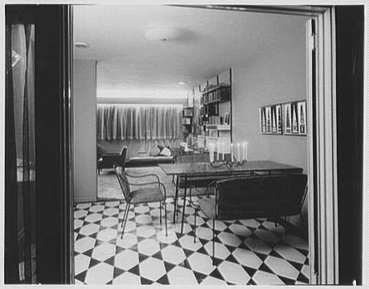 Willow Brook Estates, Freeport, Long Island. Arch to dinette and ...