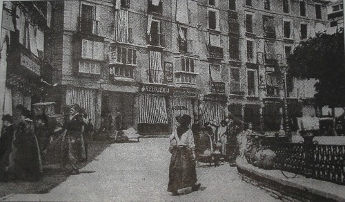 Plaza de Zocodover , Toledo, España, a finales del siglo XIX