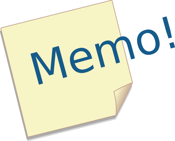 Image result for memo clipart images