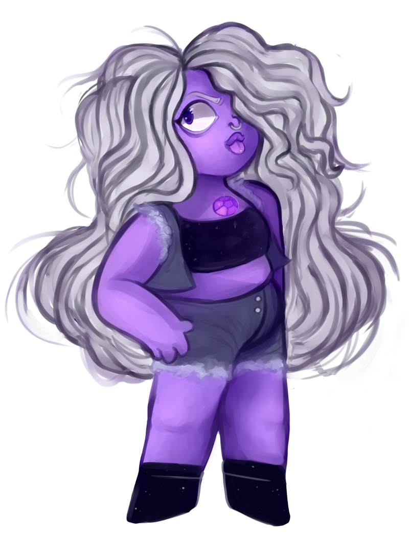 She's the punkest purple in town