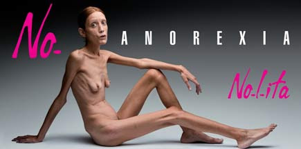 Pubblicità contro l'anoressia