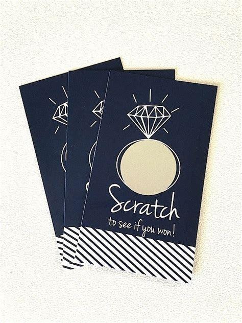 Pre Order  set of 24 cards   bridal shower game   scratch