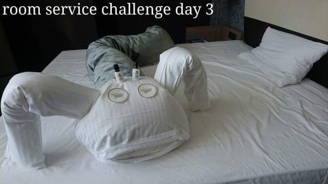 День третий  Отель, горничная, креатив, юмор