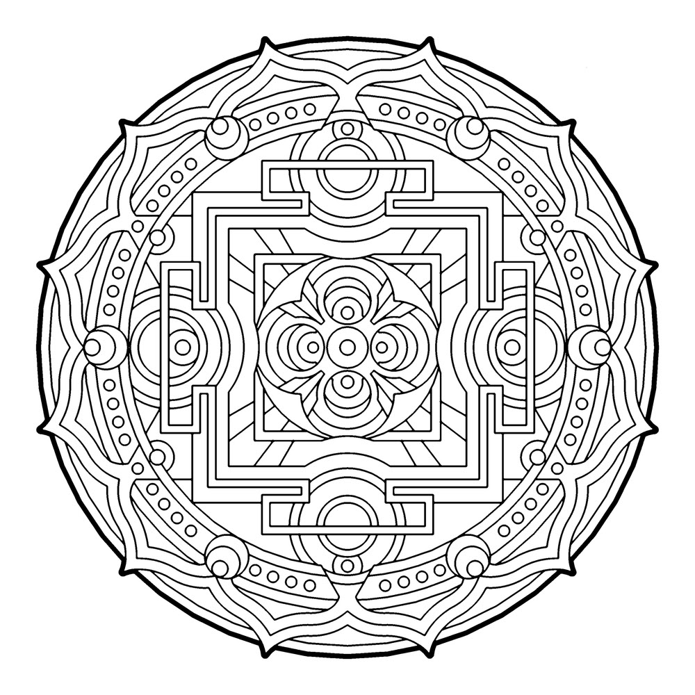 Simple Geometric Coloring Pages at GetColorings.com | Free ...