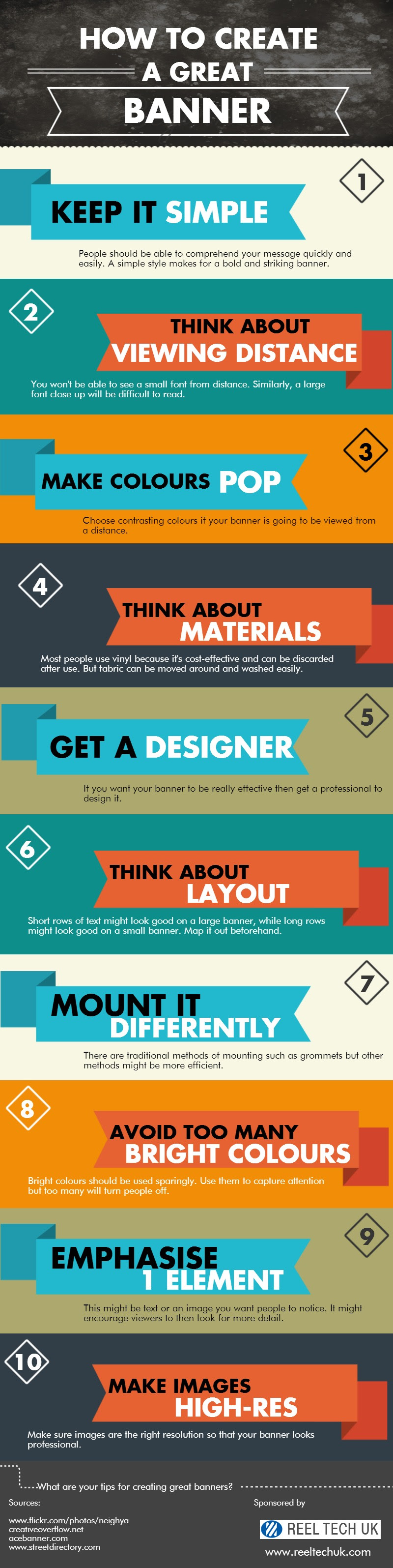 Infographic: How to Create a Great Banner #infographic