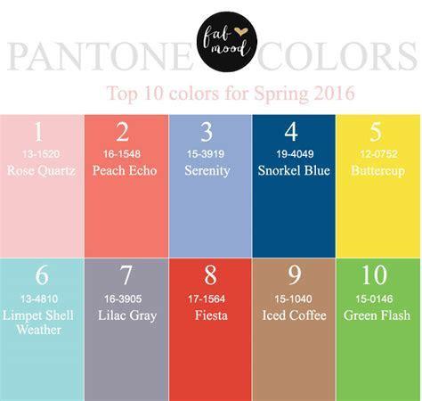Pantone wedding colors 2016 { Top 10 Pantone for Spring 2016 }