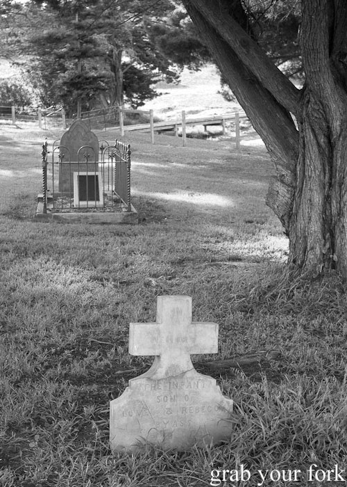 1888 infant grave at Reeves Point Cemetery, the oldest cemetery in South Australia