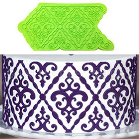 Marvelous Molds Filigree Damask Silicone Onlay