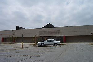 An old Target store located on Old National Hi...