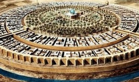 Kota Baghdad pada masa Abbasiyah berbentuk bundar.