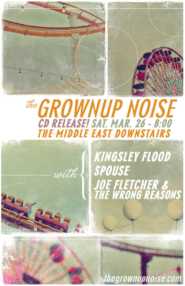The Grownup Noise Record Release Show March 26