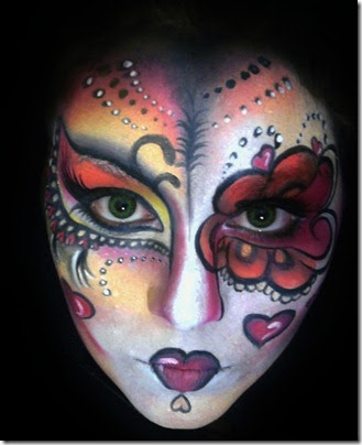 Day Of The Dead Sugar Skulls Face Painting July 2011 Contest For