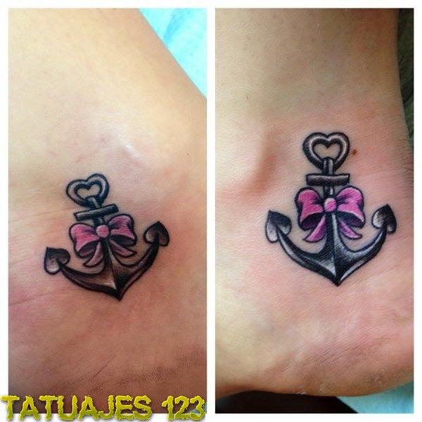 Ancla Con Lazos Tatuajes 123