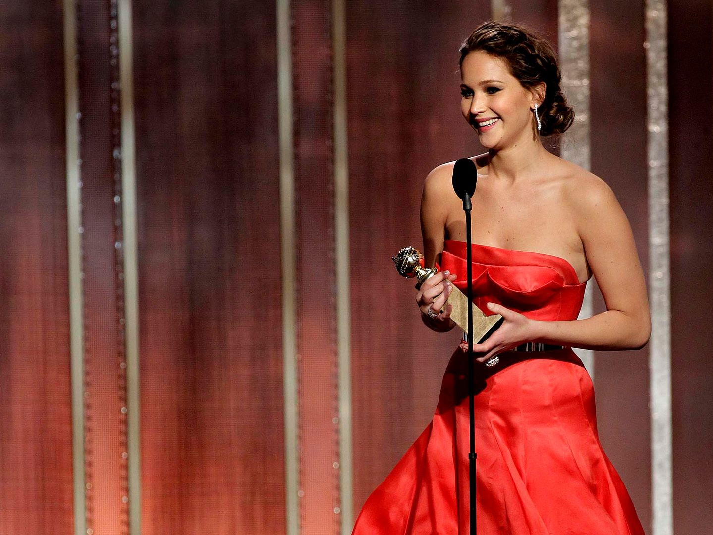 2013 Golden Globe Awards, Jennifer Lawrence