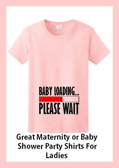adorable baby shower shirts  man  woman