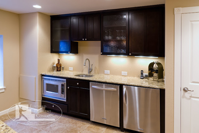 Basement Walk-up Bar - traditional - basement - denver - by ...