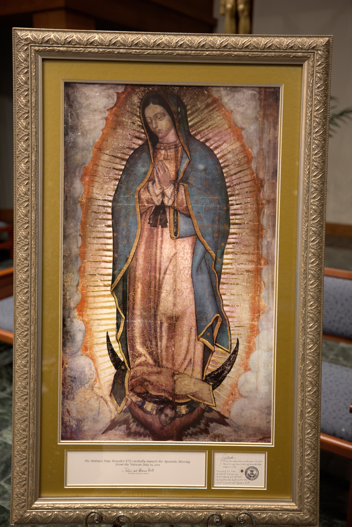 Father Ron Williams Presented Ihm With An Icon Of Our Lady Of
