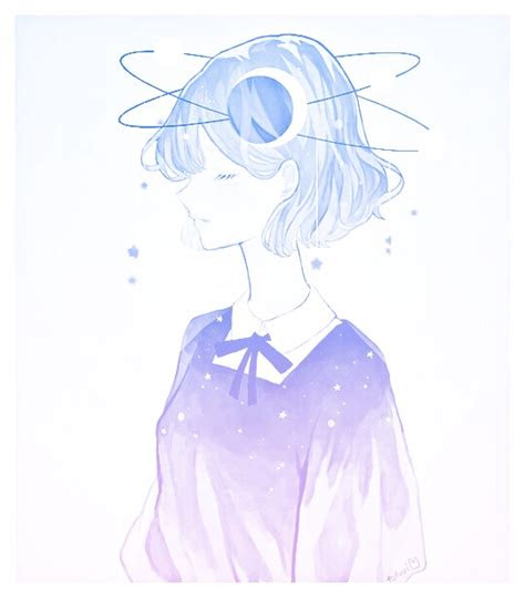 yikes pastel anime animegirl cute pink blue aesthetic