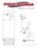 Proform 920S Exercise Bike : Sehflxbqaipthm