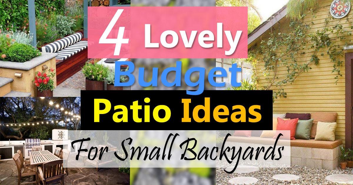 4 Lovely Budget Patio Ideas For Small Backyards   Balcony ...