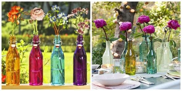 Resultado de imagem para vasos de garrafas e vidros