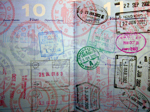 My collection of passport stamps by hjl.