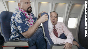 Reclining without regard for fellow passengers creates in-flight tension.