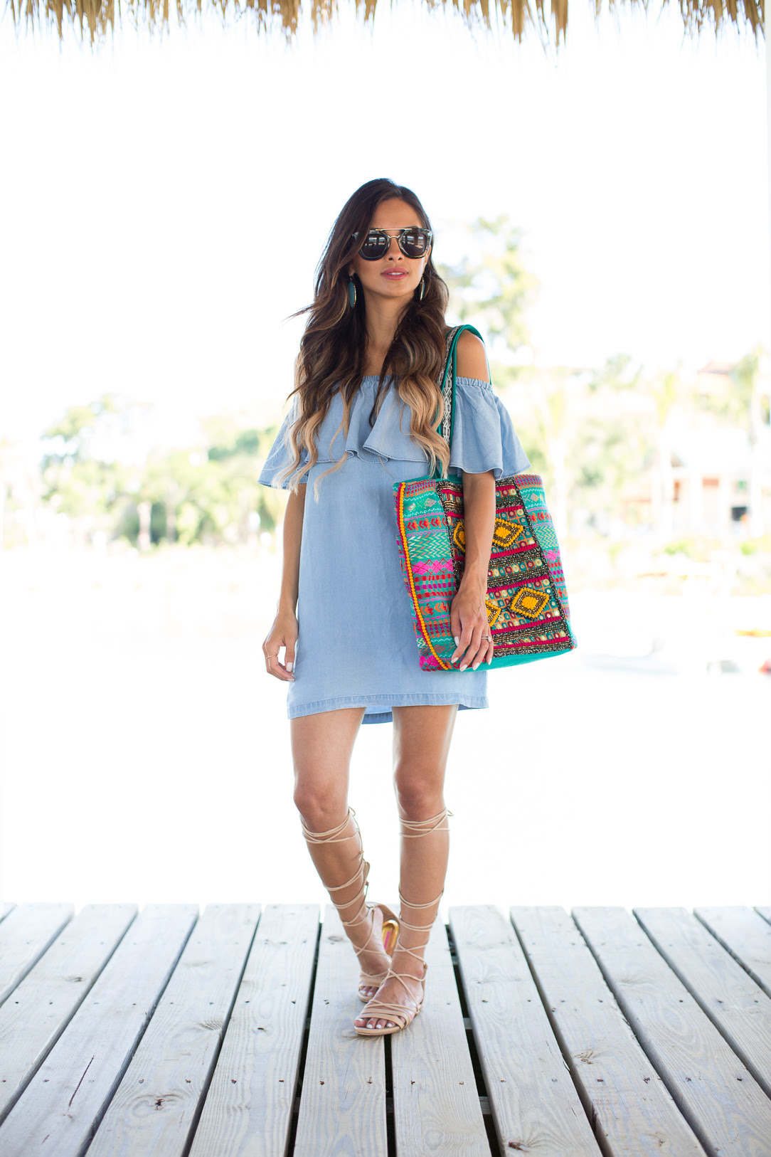 Denim Dress In The Dominican Republic. - Mia Mia Mine