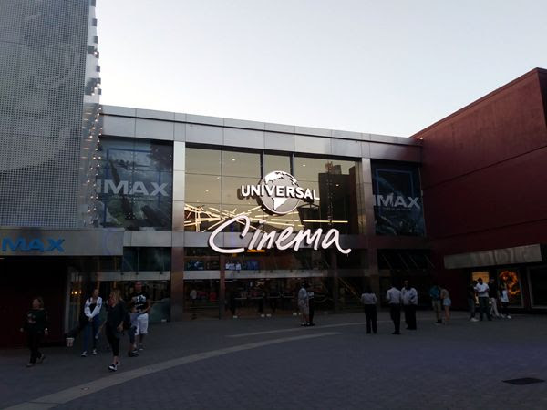 Getting ready to watch THE DARK KNIGHT on IMAX at Universal Cinema AMC in CityWalk...on August 26, 2018.