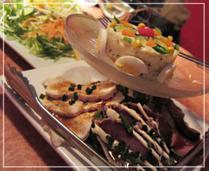 千葉「リトルシェフにんにく」にて、どどーんと前菜