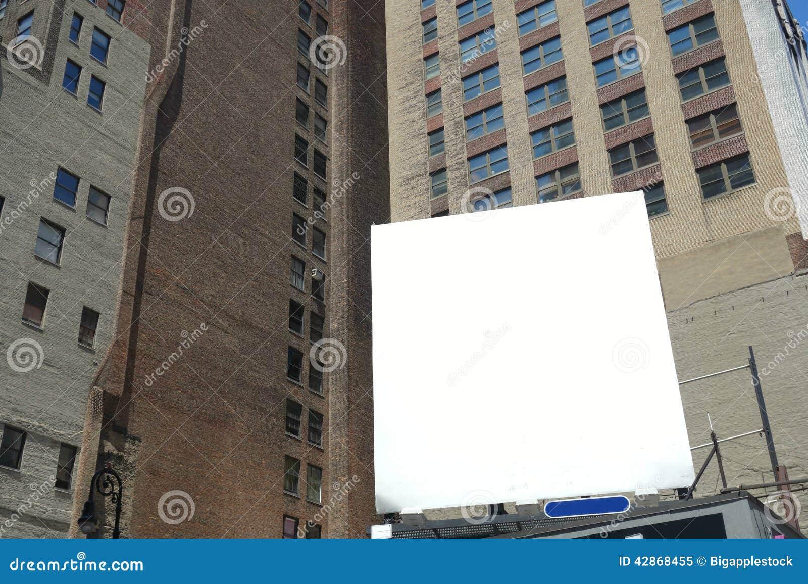 Blank Urban Billboard Stock Photo - Image: 42868455