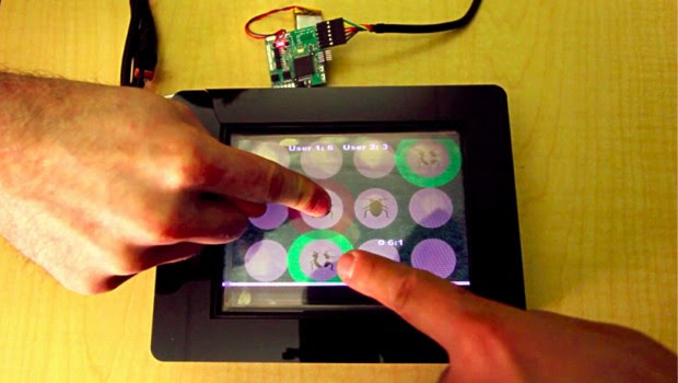 Disney Research develops capacitive touch that detects multiple users by their fingertips video