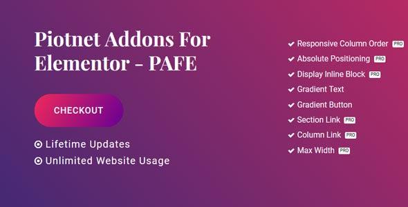 Piotnet Addons Pro For Elementor v6.3.4.6