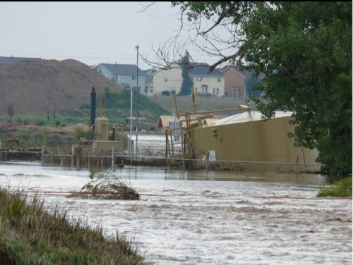 flood in Weld County yesterday Sept 13