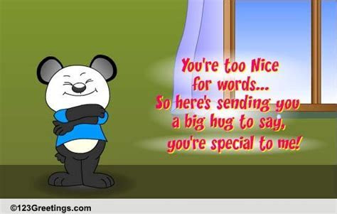 You're Very Special To Me. Free Family eCards, Greeting