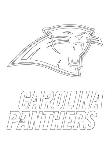 Carolina Panthers Logo Coloring Page Free Printable Coloring Pages