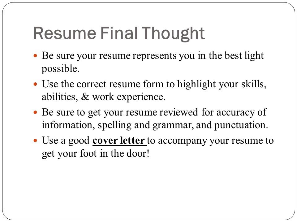 Online Resume Workshop  ppt video online download