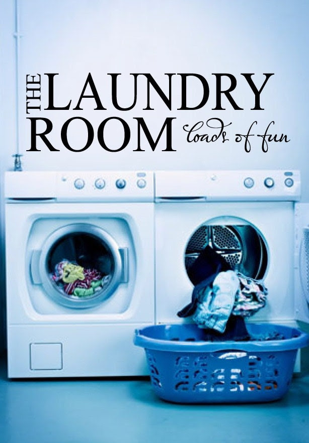 "Laundry Room Decal 8""x25"" The Laundry Room Loads of Fun Laundry Room Decor Vinyl Lettering"