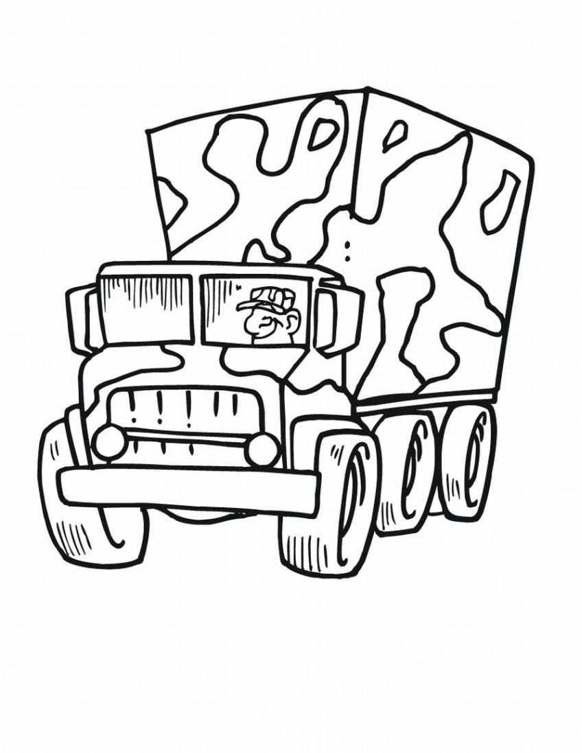 630 Top Army Vehicles Coloring Pages Print , Free HD Download