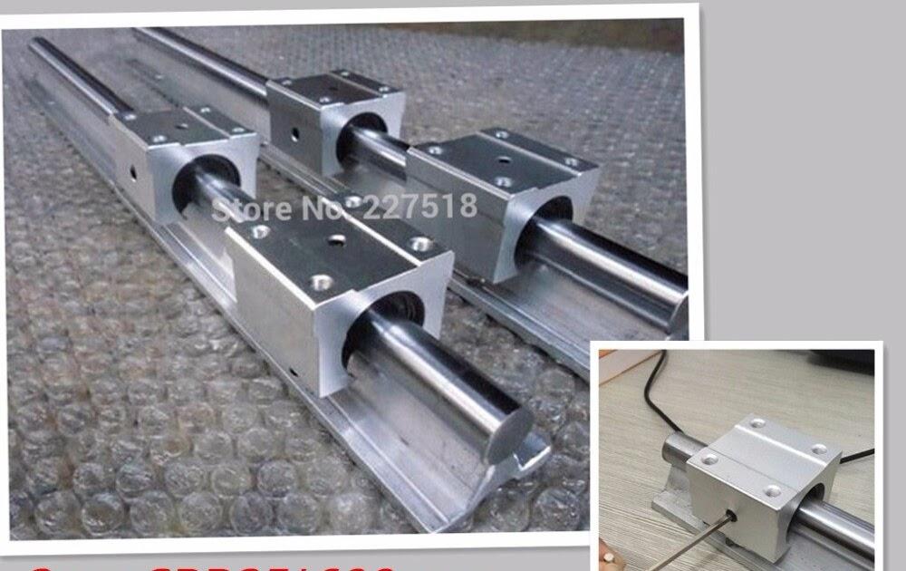 SBR20-500mm 20MM LINEAR SLIDE GUIDE SHAFT 2 RAIL+4 SBR20UU Bearing Block CNC set