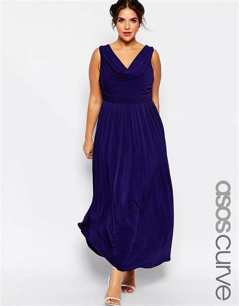 Asos CURVE WEDDING Cowl Neck Maxi Dress   ShopStyle.co.uk