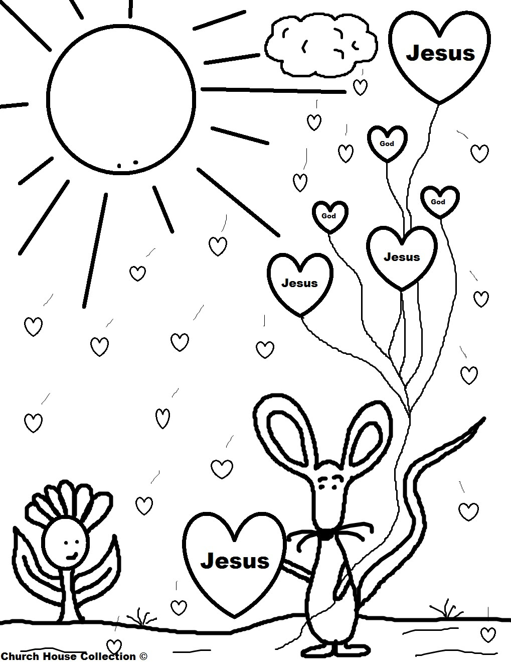 940 Top Christian Childrens Coloring Pages Free  Images