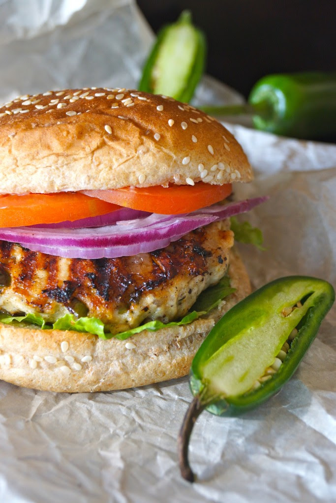 Grilled Jalapeno Pepper Jack Turkey Burger | Cooking on the Weekends